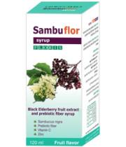 Sambuflor סמבופלור סמבוק שחור עם סיבים פרה ביוטיים סירופ לילדים ולמבוגרים