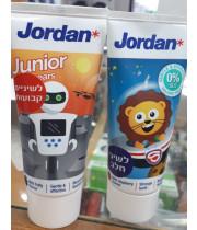 ג'ורדן משחת שיניים לילדים JORDAN KIDS TOOTHPASTE