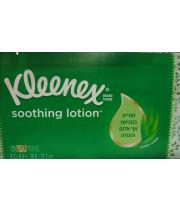 קלינקס לושן ממחטות אף עם אלוורה למניעת אף אדום ומגורה   Kleenex Lotion Aloe & E