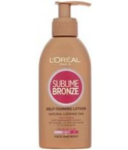 תחליב קליל לשיזוף עצמי | L'OREAL SUBLIME BRONZE לוריאל