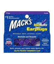 מאק אטמי אוזניים סיליקון בצורת בורג Mack's Earplugs AquaBlock