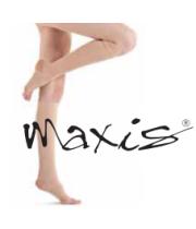 גרבי לחץ רפואיות MAXIS | עד לברך AD אצבעות פתוחות | דרגת לחץ 2
