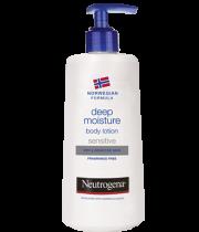 תחליב לחות טיפולי לגוף לעור רגיש ויבש ניוטרוג'ינה Neutrogena Deep Moisture Body Lotion