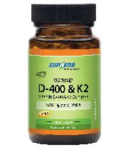 """ויטמין די 400 יחב""""ל D-400 + K2 סופהרב"""