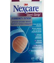 רצועות דביקות לאיחוי חתכים נקסקר NEXCARE STERI STRIP סטריסטריפ