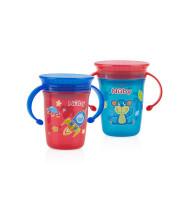 כוס הפלא עם ידיות 360 מעלות לגימות קלות מכל צד נובי | NUBY 360