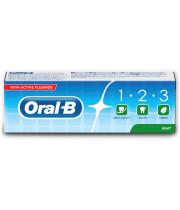 אוראל בי 123 משחת שיניים עם פלואריד בטעם מנטה