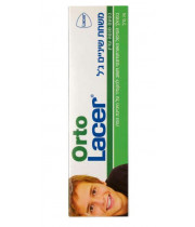 ORTO LACER אורתו לאסר - משחת שיניים ג'ל בטעם מנטה עדין - לטיפול האורתודונטי