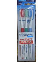 Sensodyne Sensitive Soft מברשת שיניים סופט רכה בשלישייה