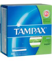 טמפקס פלאש סופר טמפונים נשטפים באסלה 30 יחידות | TAMPAX Flash Super