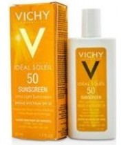 תחליב הגנה מהשמש לפנים לעור מעורב עד שמן VICHY Capital Ideal Soleil Fluid SPF50 וישי