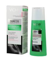 דרקוס שמפו לטיפול ומניעת קשקשים לקרקפת רגישה Vichy Dercos Anti Dandruff Sensitive Treatment Shampoo וישי