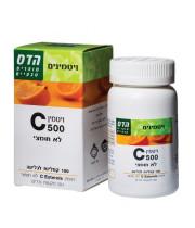 """ויטמין C לא חומצי 500 מ""""ג Vitamin C הדס"""