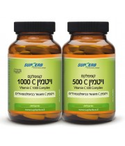 """ויטמין C קומפלקס 500 / 1000 מ""""ג סופהרב"""
