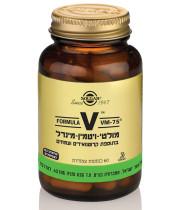 מולטי ויטמין מינרל צמחי SOLGAR Multi Vitamin VM-75 Vcaps סולגאר