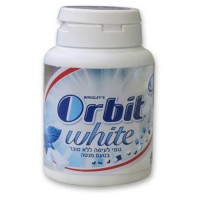 מסטיק ללא סוכר ORBIT WHITE בבקבוקון 46 יחידות