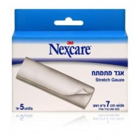"אגד מתמתח 7 ס""מ נקסקר NEXCARE STRETCH GAUSE"