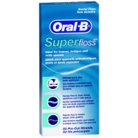 חוט דנטלי סופר פלוס אוראל בי Oral B SUPER FLOSS